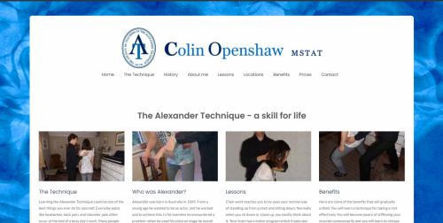 Colin Openshaw's Alexander Technique Website